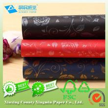 colored embosed paper for gift wrapping
