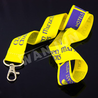 custom Thermal transfer Bronzing lanyard keychain