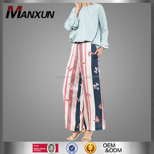 New Arrival muslim printing pants loose fashion islamic trousers