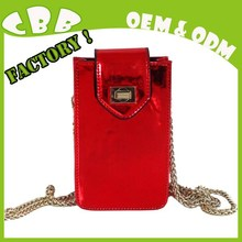 Hot sale boutique long chain wholesale leather waterproof cover mobile phone case for phone 5 / 5s / 6 / 6 plus etc