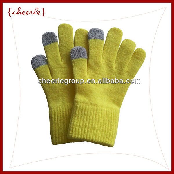 Very thick good quality cotton knitted smart tips gloves