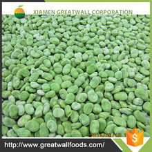 Chinese frozen green and white broad bean
