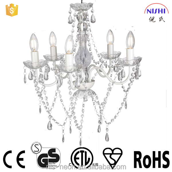 2016 classical new design clear acrylic beads decorated chandelier for living room NS-120135