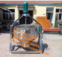 200 liter steam jacketed cooking kettle/500 liter steam jacketed cooking kettle