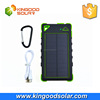 With frosted material portable waterproof solar power bank solar charger 8000mah built-in battery