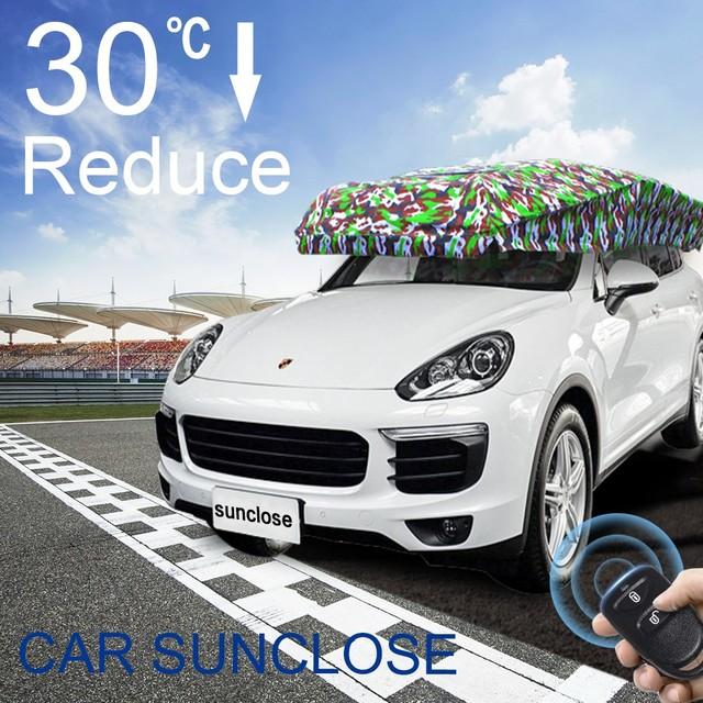 SUNCLOSE new design car window sun blinds caravan front cover