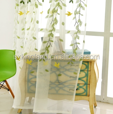 high quality custom shower curtain Embroidery sheer waterproof bathroom window curtain