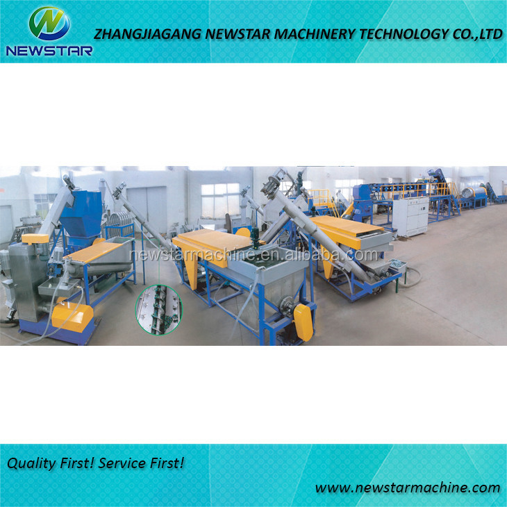 Highly automatic waste PET bottle plastic recycling line