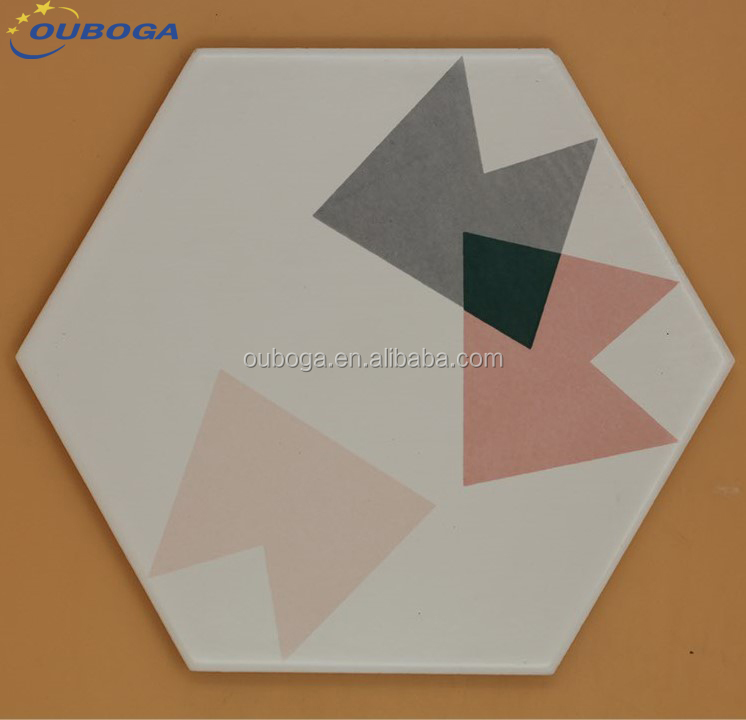 whoelsale italian hexagaonal non slip bathroom floor ceramic tiles price