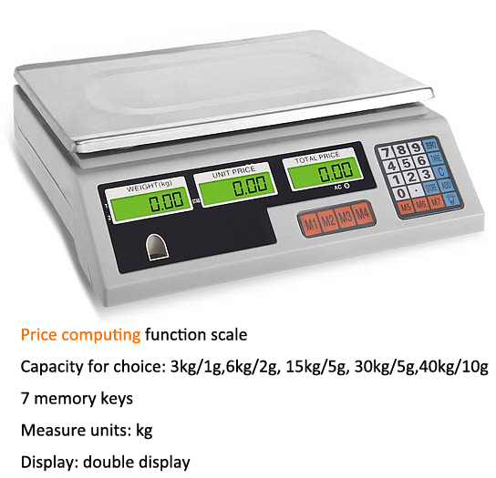 digital 40kg ABS plastic new model ACS system electronic scale