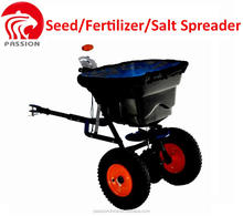 36KG/80LB/29L Tow behind seed fertilizer salt spreader for garden farm use