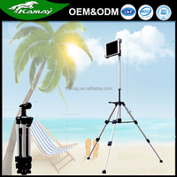 Outdoor tablet computer portable tripod stand aluminum tube floor stand for Ipad