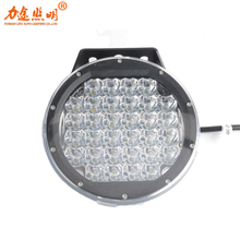 320w 9 Inch Black Spot Round Led Work Light Red Led Off Road Light 12V Fog Driving Lights Roof Bar Bumper for SUV Boat Lamp