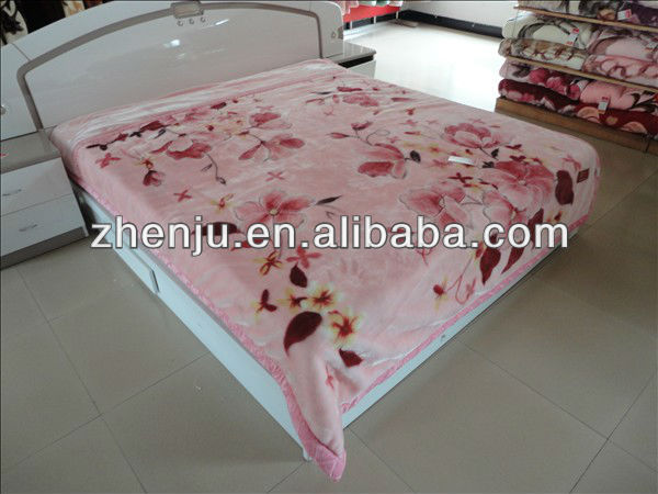 2013 NEW arrival comfortable polyester blanket factory queen size ( HXTJ-60)