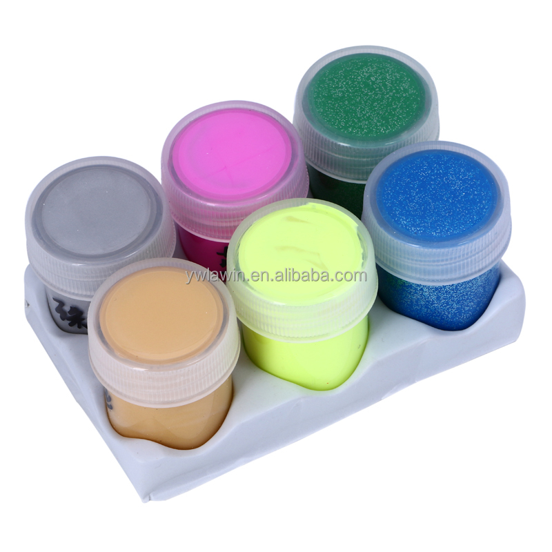 paint sets:20ml pearl powder color paint 2pcs,20ml glitter watercolor paint 2pcs,20ml highlight watercolor paint 2pcs