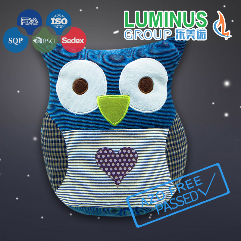 Owl design cotton door wind stopper