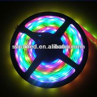pixel digital flexible led strips,ws2812b WS2811 ic with 5050 RGB led chip in one,5V silicon tube