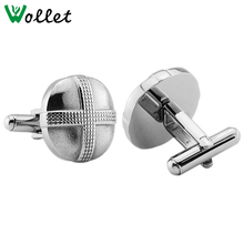 Fashionable Cross-shaped Meta Cuff Button Men Sleeve Shirt cuff links