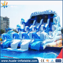 Wavy Giant Inflatable used swimming pool slide,inflatable water slide