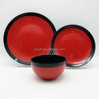 Made in China factory price two color matte design stoneware ceramic dinner set