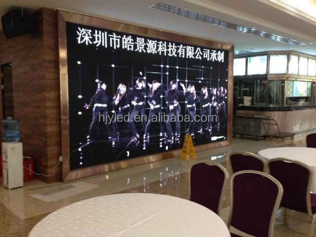 High resolution p6 full color led display indoor