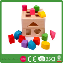 Baby Wooden Toy Shapes Box Children Educational Toy