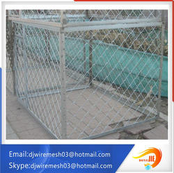 stainless steel beautiful grid wire mesh @ dog kennels@ dog cages