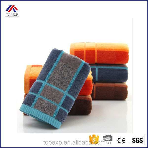 High Quality Combed Cotton Striped Dobby Towel