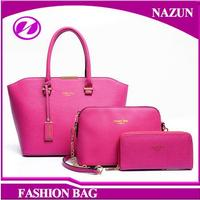 Hot Sale China Factory Price Wallet Purse 3 Pieces in 1 set bags Women Handbag Set