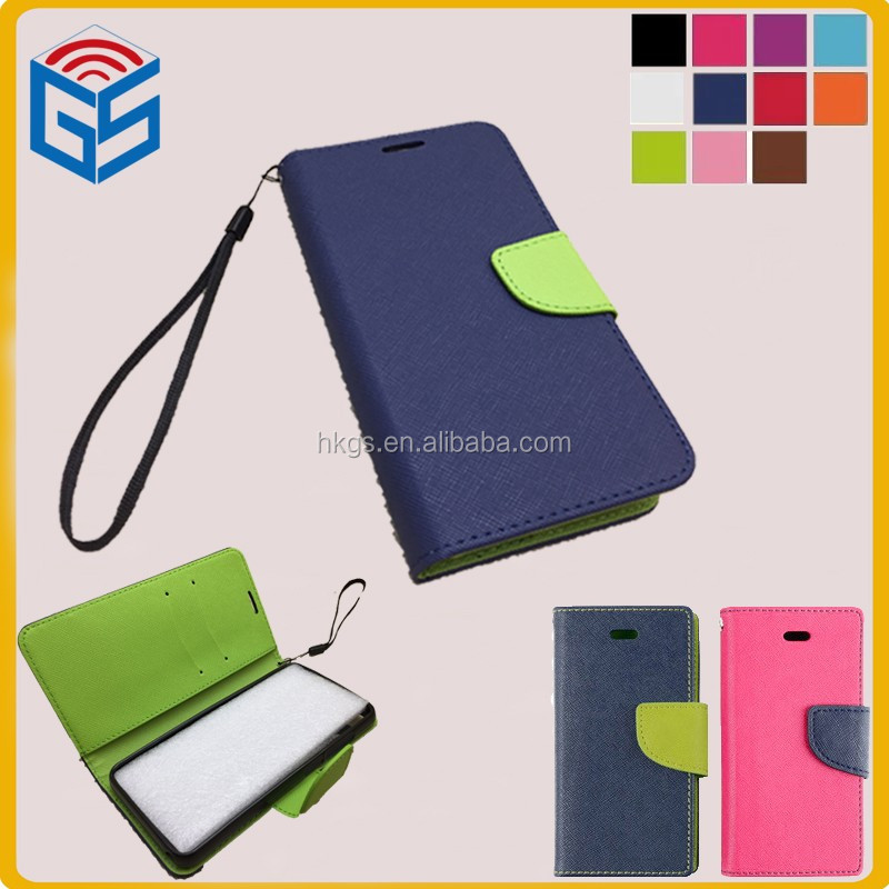 For Blu dash l2 d250l d250u dash <strong>l</strong> d050l d050u Fresh Flip Wallet <strong>Leather</strong> Case Cover