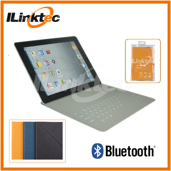 Rohs fcc ce bluetooth keyboard case for ipad air 9.7inch ultra thin leather keyboard & case