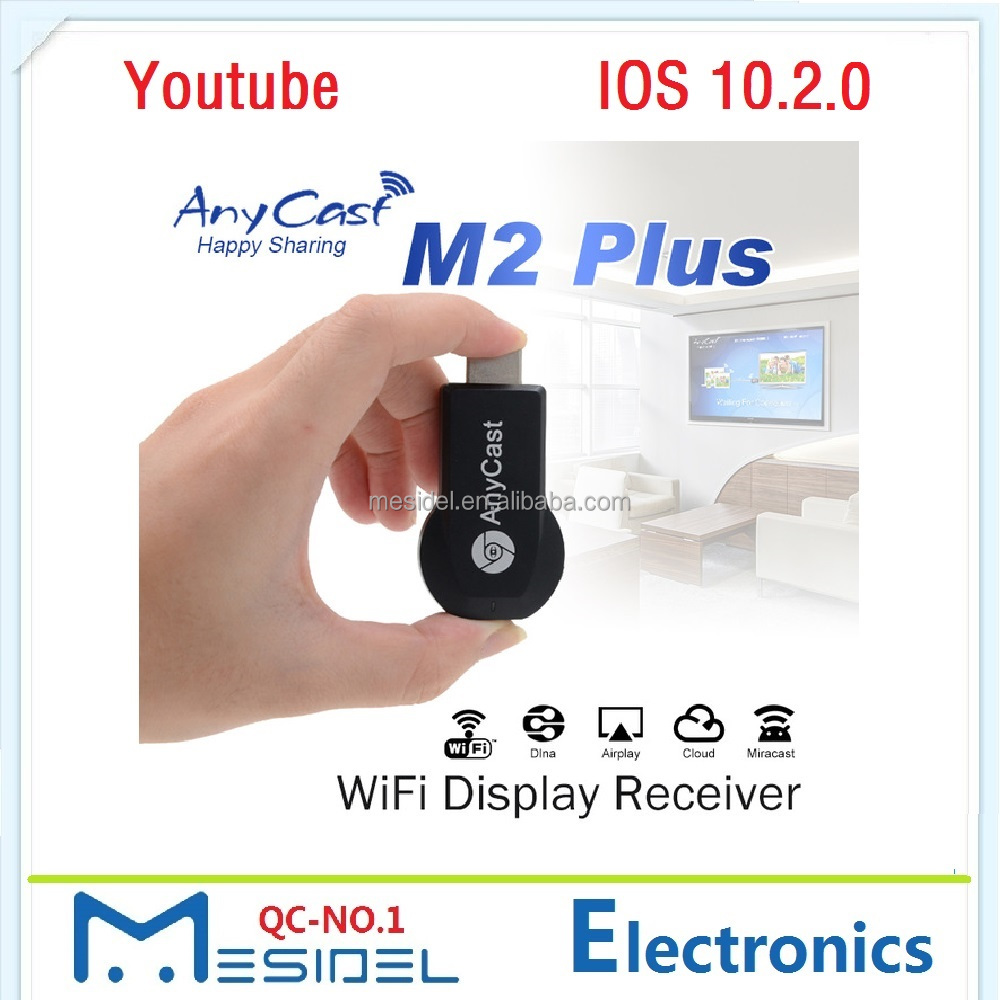 Airplay 1080P Wireless WiFi Display TV Dongle Receiver HDMI TV Stick DLNA AnyCast M2 Plus for IOS Youtube Phone Tablet Pc