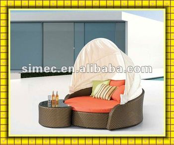 wicker rattan outdoor daybed
