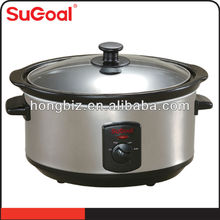 2015 hot-selling stainless steel cookware electrical slow cooker