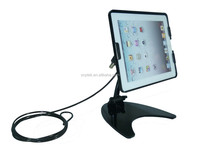 Security an-ti theft ipad and tablet pc cable lock desktop display stand