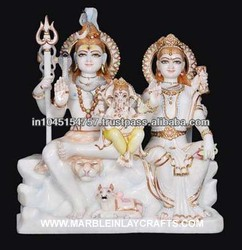 Exclusively Designed Shiva Parvati Family in Marble