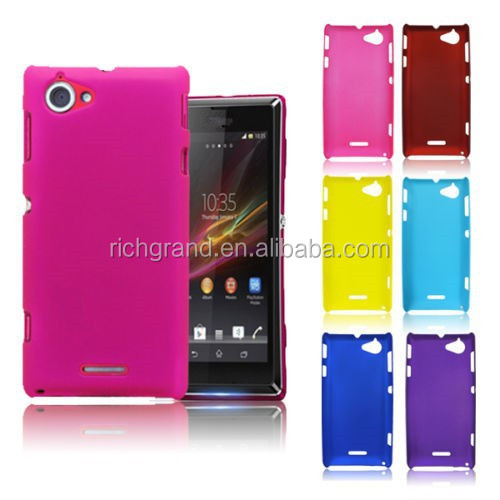 Hard back skin case cover for Sony Xperia L S36h C2104 C2105
