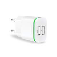 Wholesale High Quality Phone Charger Led 2A Dual USB Wall Charger