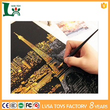 Wholesale DIY Painting Scratch Night View Scratch Picture For Kids