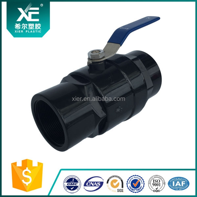 Plastic Handle Two Pieces Plastic PVC Ball Valve / UPVC Ball Valve