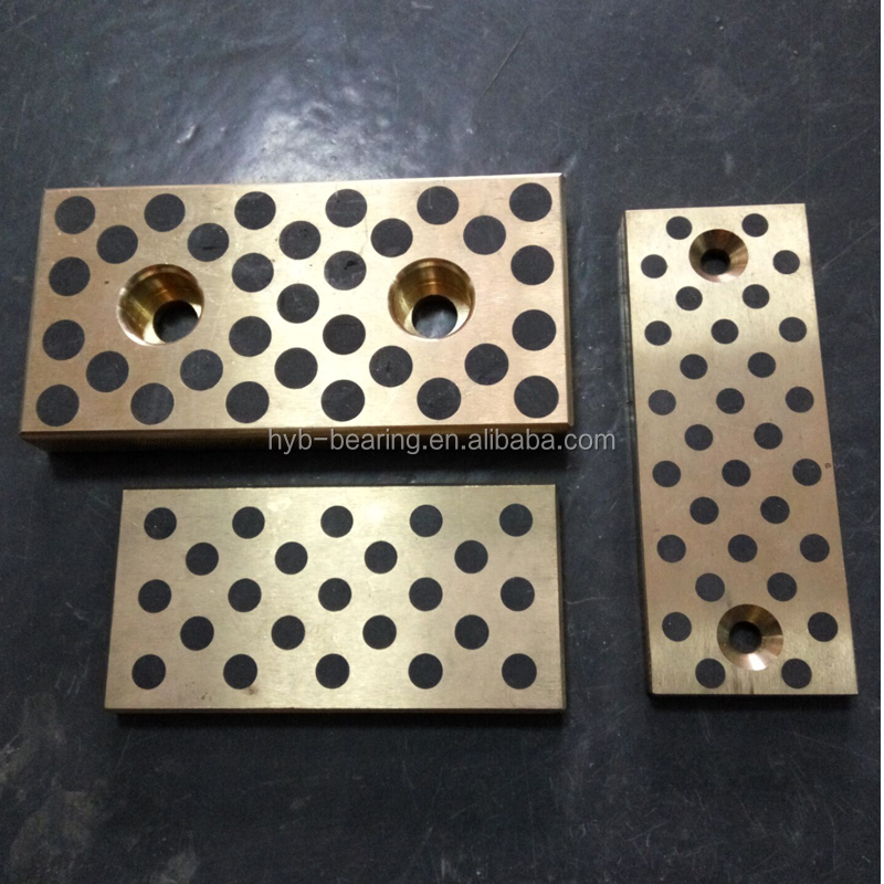 Injection mold spare parts with graphite insert bronze bushing , brass graphite JDB bushing , JTW JTS thrust pads