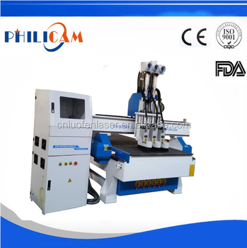 FLDM1325 wood cabinet door processing with atc/cnc machine woodworking