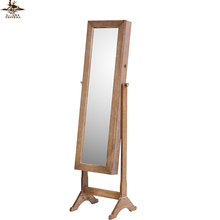 New design classic mirrored floor mirror jewelry armoire cabinet