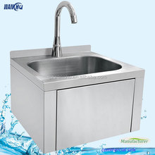 Hotel SS Wash Hand Sinks Manufacturer/Stainless Steel Wall Knee Operated Wash Sink/Hospital Hand Basins Factory