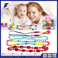 2016 Latest Design Fashion Silicone Pendant Baby Teething Long Necklaces Chain Jewelry