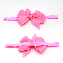 Manufacturer Custom Girls Bow Headband Hair Bow With Elastic Band