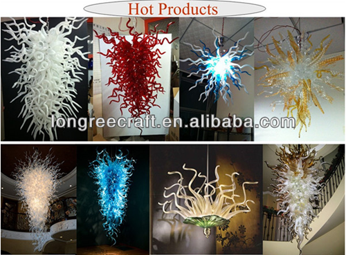 Wholesale Art Decor Pendant Lamp Murano Red Glass Chandeliers Light in Dubai