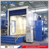 Sand blasting room for leading shot machine
