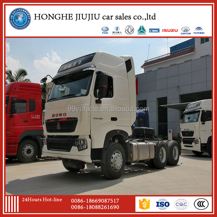 sinotruk howo t7h 6x4 motor tractor truck low price sale