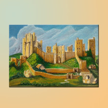 Wholesale High Quality Handmade Prince And Princess House Abstract Castle Oil Painting On Canvas